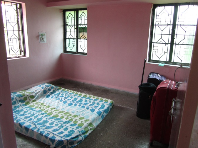 Our bedroom in India when we first moved into our first India home.