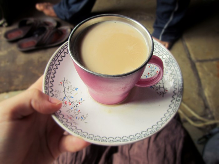 Authentic chai cup! From the house where the milk was delivered.