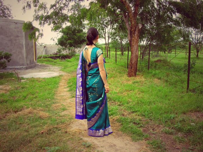 Wore a saree for the first time.