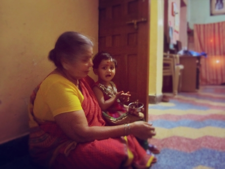 Image result for grandmom son indian