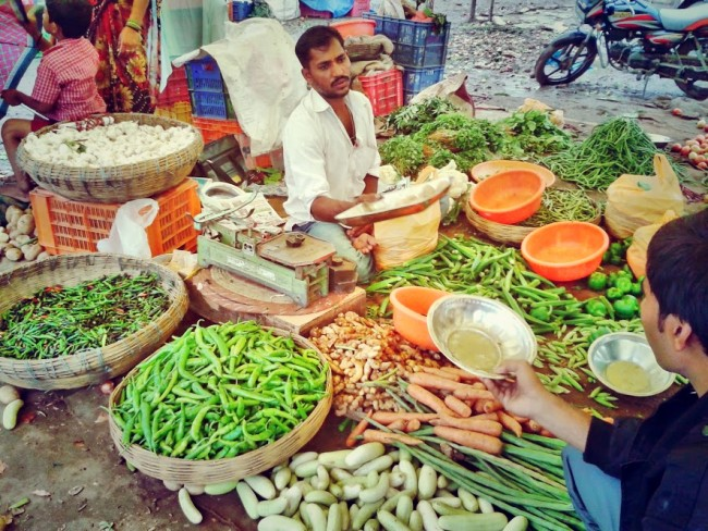 veggie market india