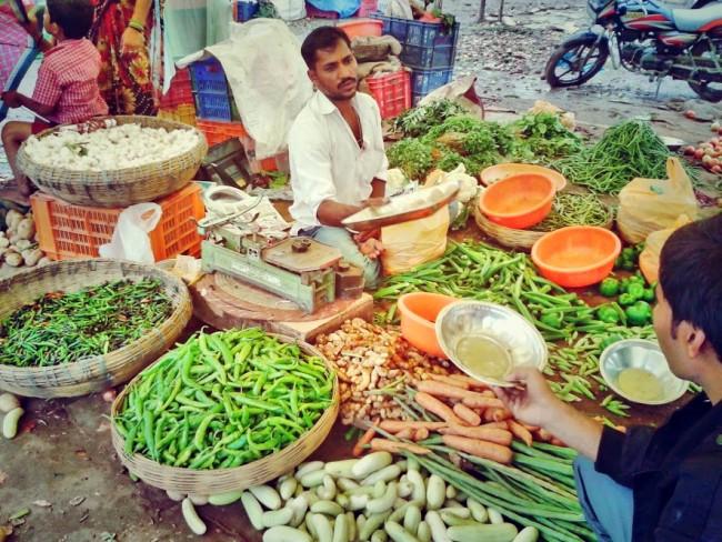 veggie market india