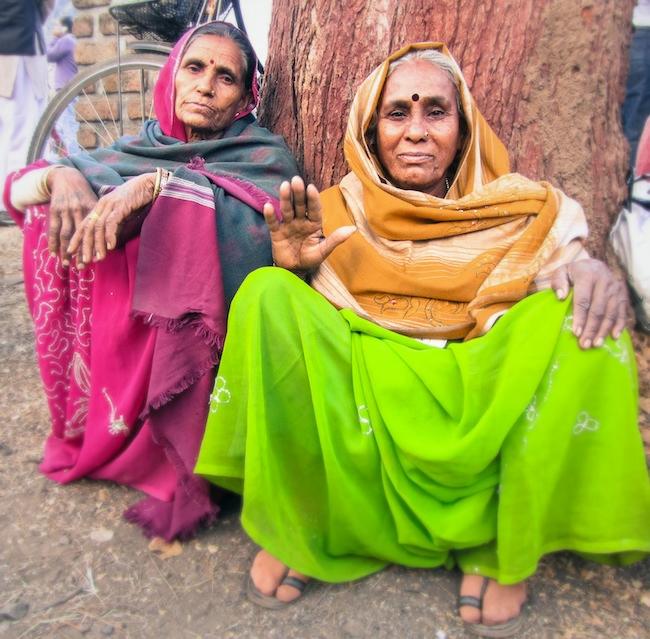 bright indian women