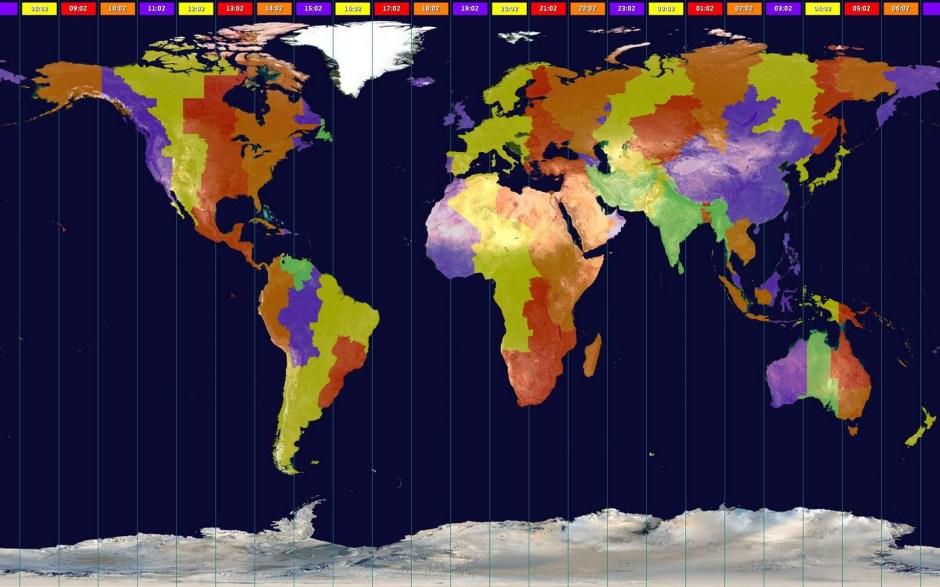world time zones