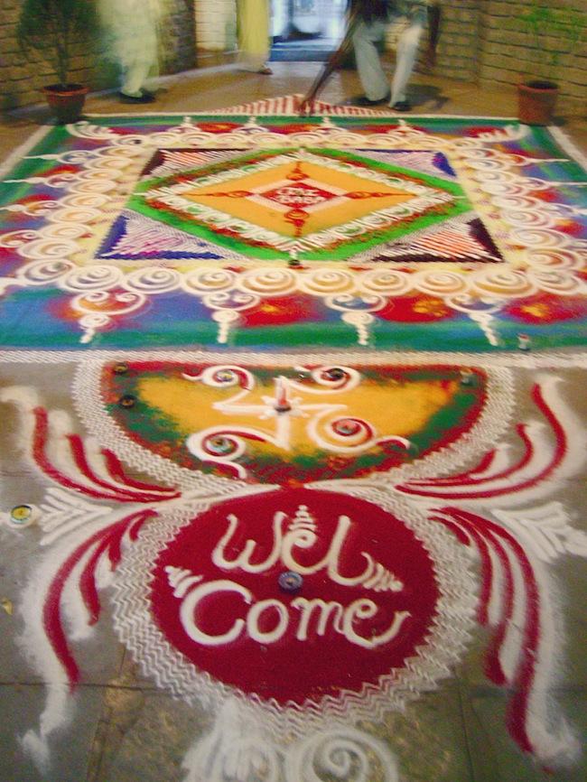 rangoli art india