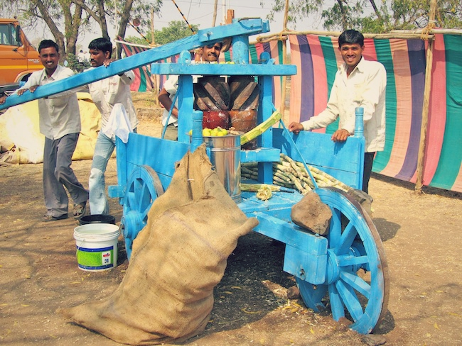 Fresh sugarcane juice machine.