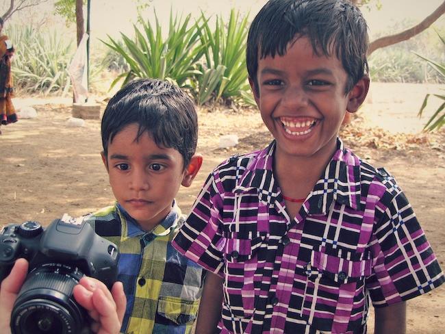 happy indian kids