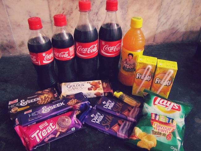 india junk food