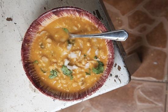 fava bean soup saffron