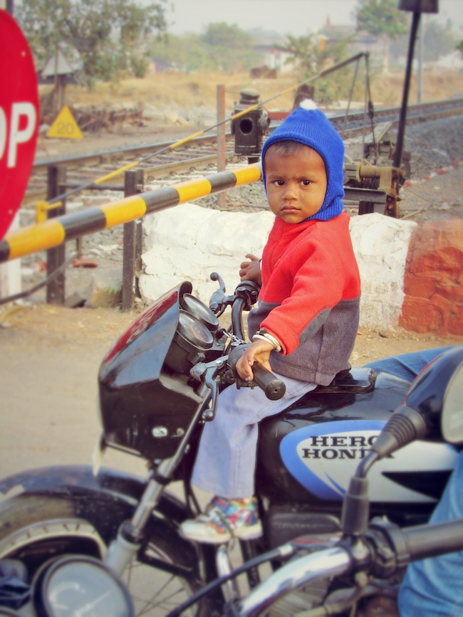 young boy motorcycle