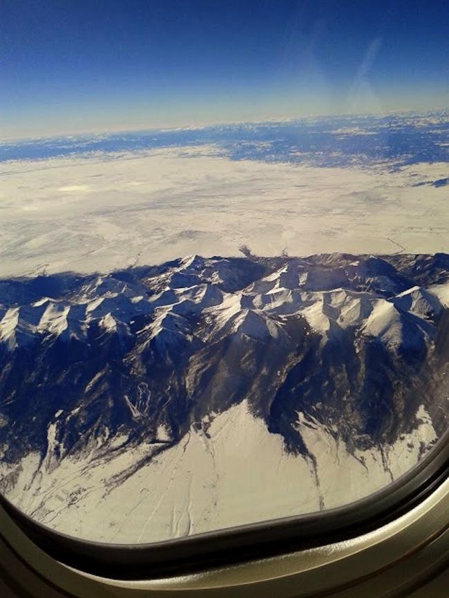 airplane window view