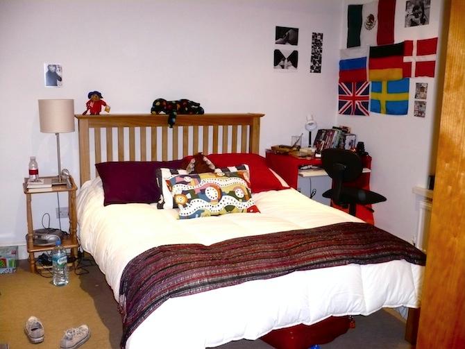My college bedroom.