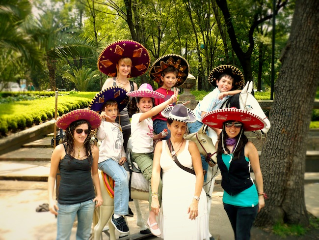 Mexican tourists in Mexico City. Can you spot the only non-Mexican?