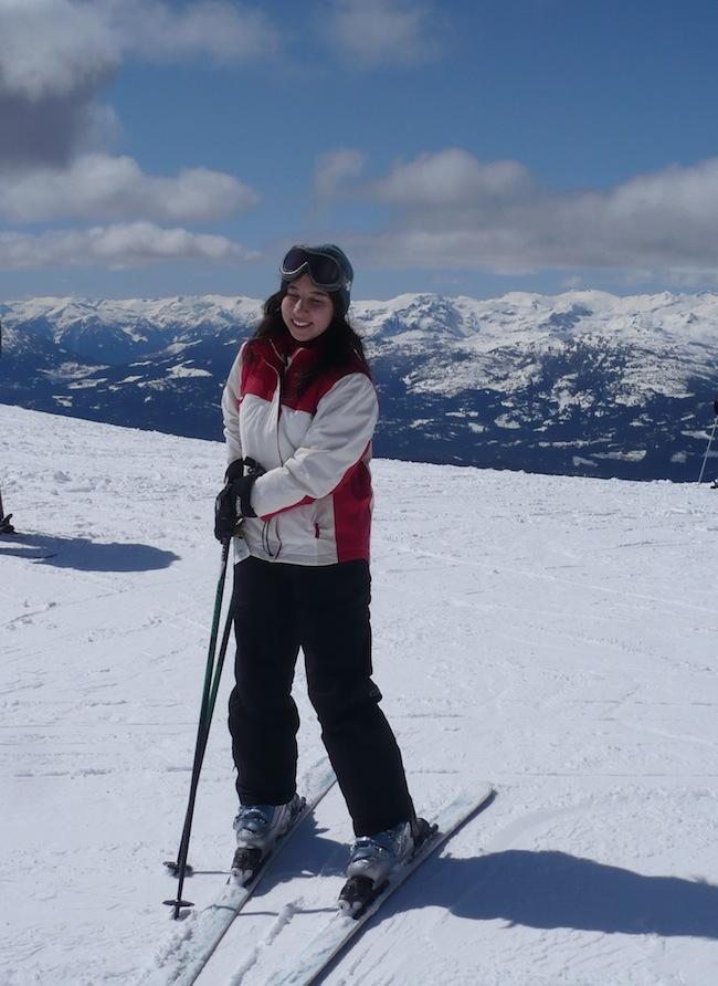 whistler canada me snow