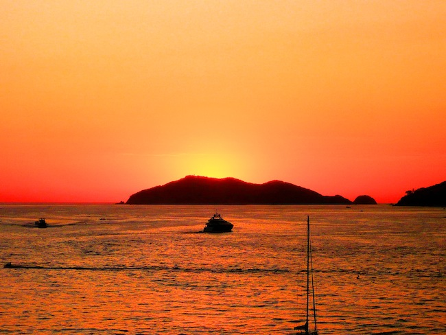 Sunset in Acapulco, Mexico