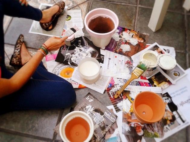diy paiting pots