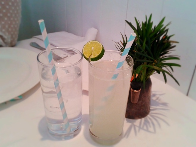 Cute straws and limonadas at