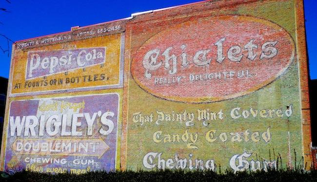 Vintage graffiti, Durham, NC