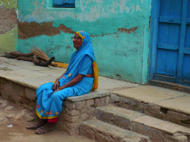 india street colors woman