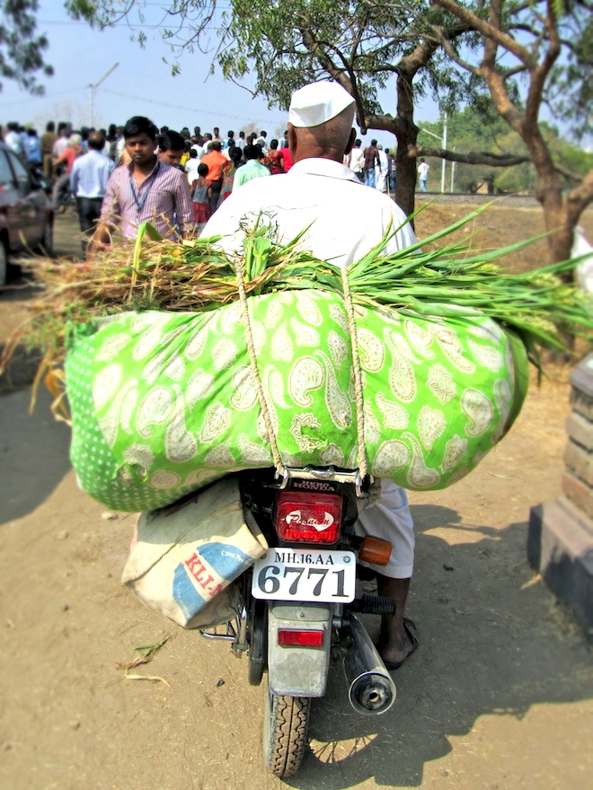A container of hay? In India.
