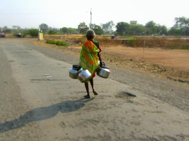 india street woman