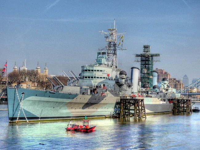A ship in London, UK