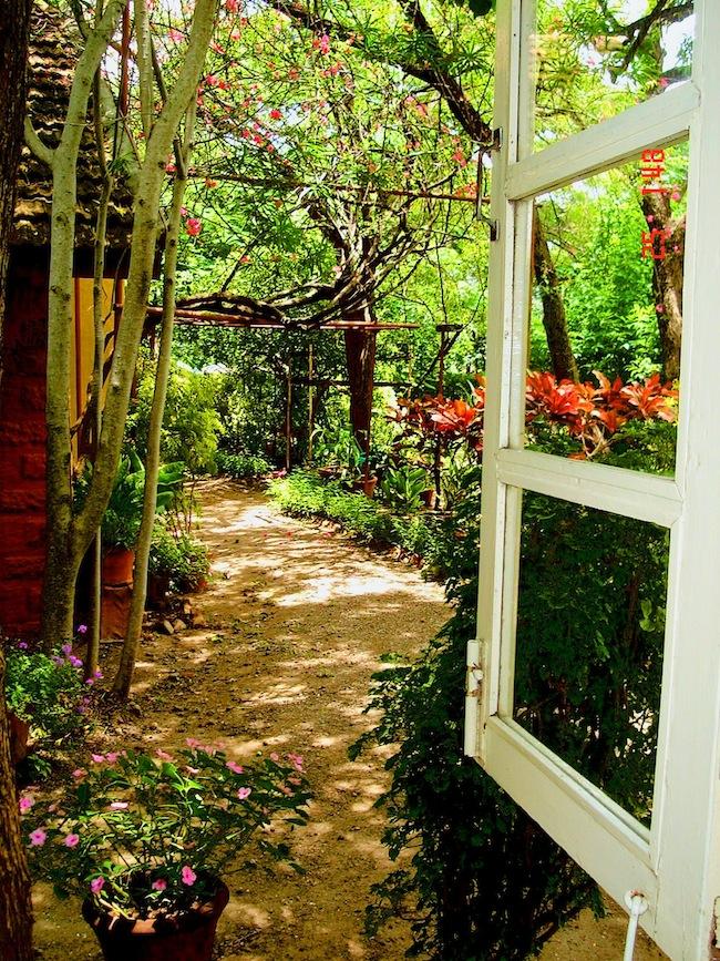 A garden at Meherazad, India