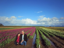 Hubby and I at the tulip farm.