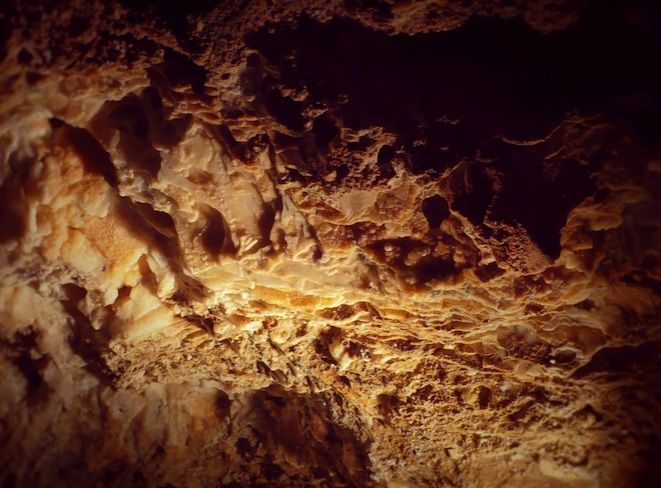 Inside the underground cave.