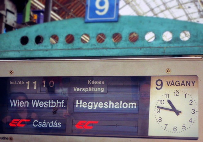 After 3-5 days in Budapest, take the train to Vienna!