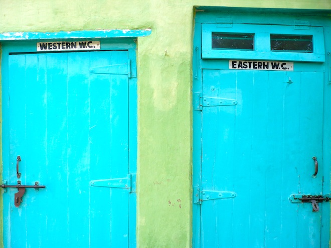 Pick your toilet style. India.
