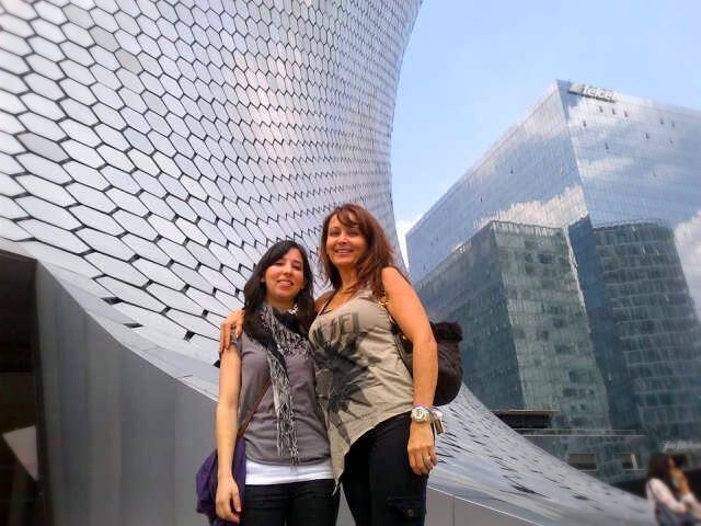 In front of the Soumaya Museum