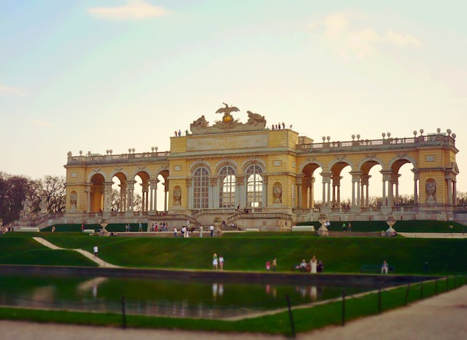 The Gloriette overlooking Schönbrunn Palace.