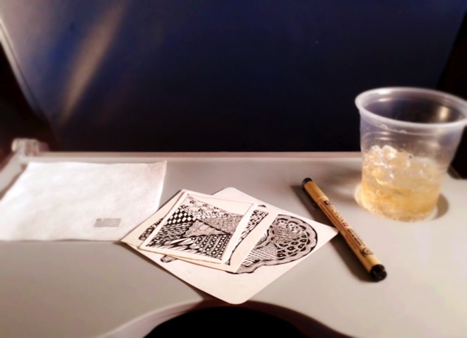 zentangle airplane