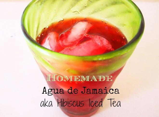 Homemade agua de jamaica