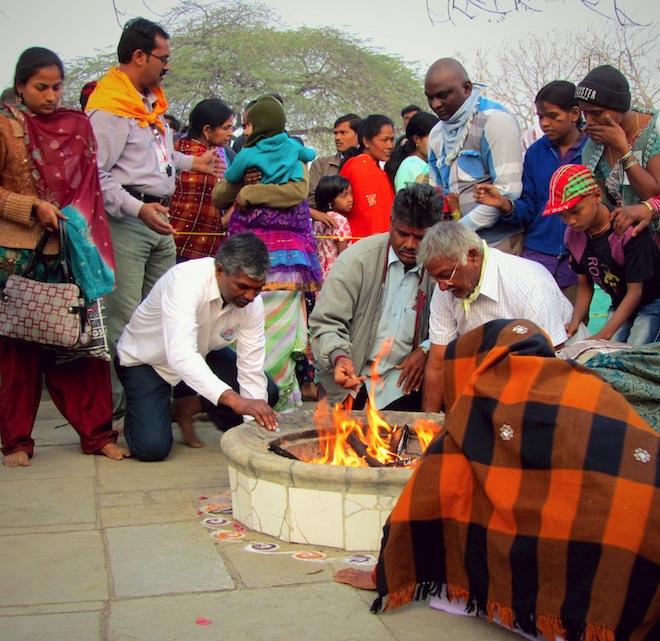 dhuni fire india