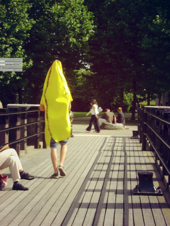 London's most famous attraction: Banana Man