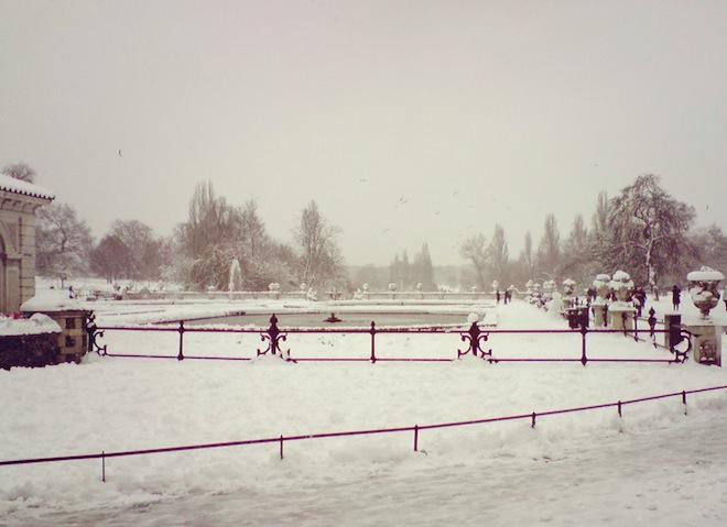 Snowy Hyde Park