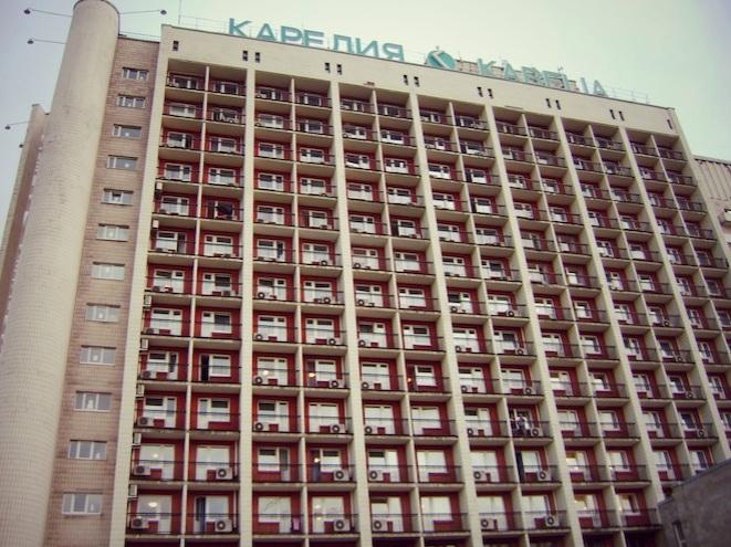 My communist-looking hotel.