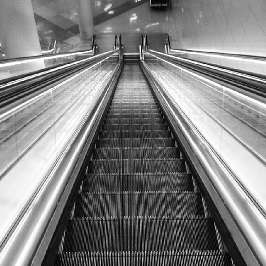 bw airport stairs