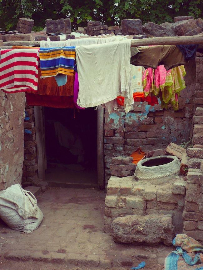 Fresh laundry in India