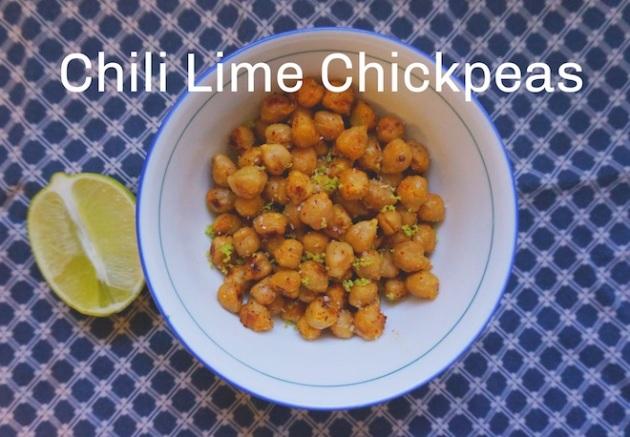 chili lime chickpeas