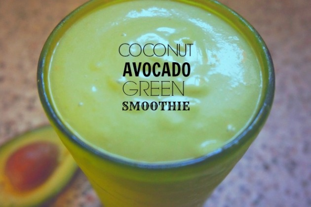 coconut avocado green smoothie2