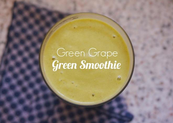 green grape smoothie