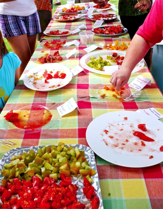 tomato tasting farmers market durham nc1