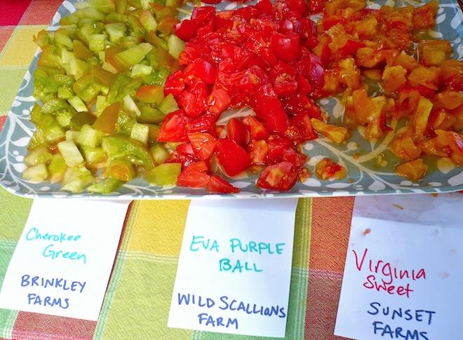 tomato tasting farmers market durham nc2