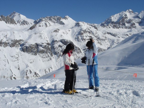 Skiing in Val D'isere, France