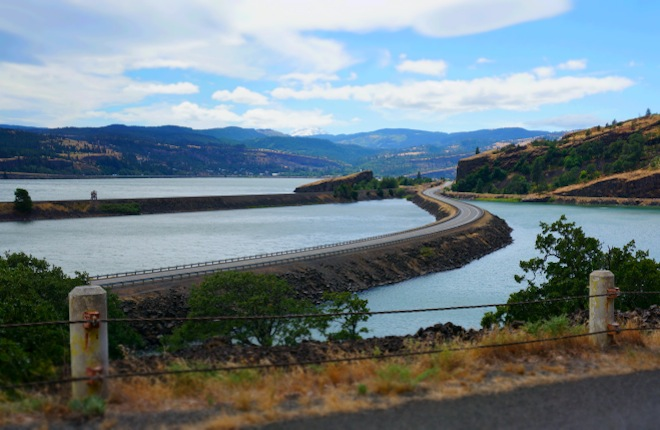 Columbia River, from the Washington side.