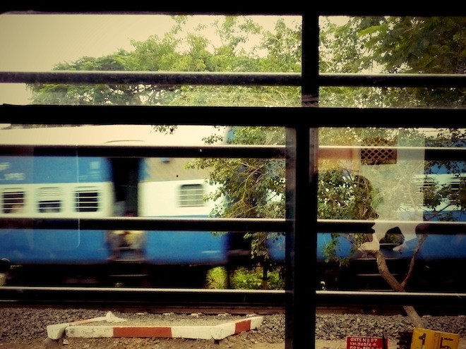 train india reflection