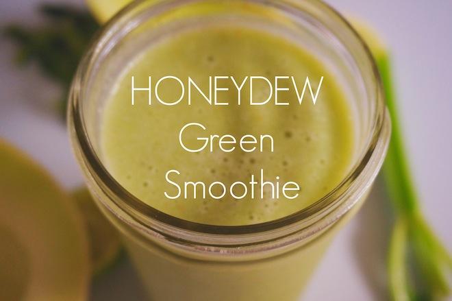 honeydew green smoothie1